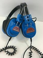 2 Vintage Lakeshore Heavy Duty Blue Headphones School Listening Centers