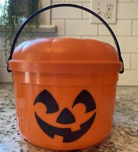 VINTAGE McDonalds Happy Meal Pumpkin Halloween Trick-or-Treat Candy BUCKET *Read