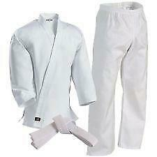 Century Martial Arts Youth 8/10 White Karate Uniform Pant Top Belt 041P FAST H20