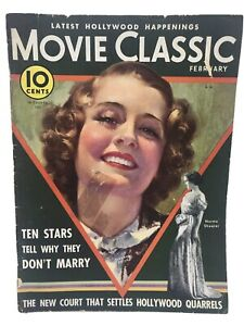 Movie Classic Magazine February 1933 - Norma Shearer Cover James Cagney Article