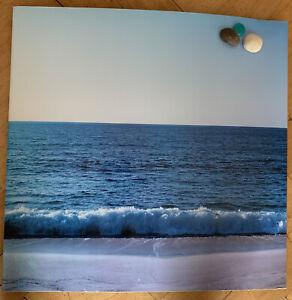 Ocean Sea Beach Design Metal Magnetic Notice Message Board 46 x 45cm