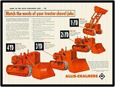 "ALLIS CHALMERS LINE OF HD TRACTOR SHOVELS 9"" x 12"" ALUMINUM Sign"