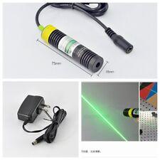 w 5V Adapter 50mw 532nm Line Green Laser Diode Module 18x75mm & k9 Glass Lens