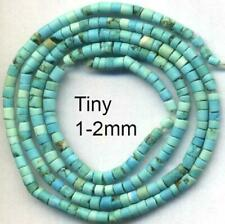 "Turquoise Peruvian Heishi Beads 1-2mm Shades of Blue 14"" strand 2020 Tucson"