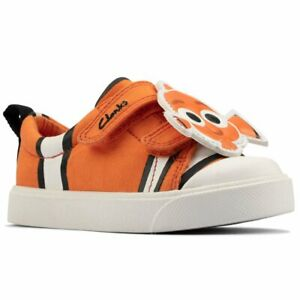 Clarks City Nemo T Boys Infant Canvas Shoes
