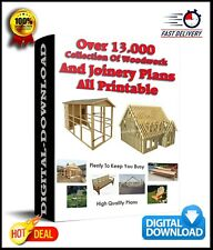 Over 13.000 - Collection Of Woodwork And Joinery Plans - All Printable DOWNLOAD