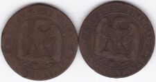 1855 W & MA France 5 Centimes | Pennies2Pounds
