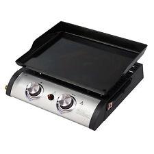 Barbecue a gas portatile Qlima da appoggio con doppi fuochi