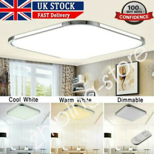 ⭐⭐⭐⭐RGB LED Ceiling Down Light Square Panel Living Room Bedroom Lamp Dimmable ZE