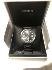 Seiko Mens Analogue Solar Power Watch Stainless Steel Dead Battery