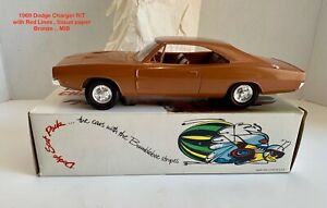 MPC 1969 DODGE CHARGER R/T MIB. PROMO MODEL CAR – MET BRONZE  EXCEPTIONAL COND