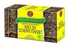 Mémoire herbal tea x 20 améliore la circulation sanguine aide mémoire et concentration