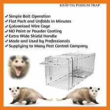 TRAP HUMANE POSSUM CAT  RAT RABBIT BIRT ANIMAL FOLDING CAGE LIVE CATCH CATCHER