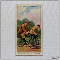 Player Cycling #16 Olympia Tandem Tricycle Cigarette Card (CC97)