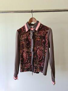 Didier parakian velvet blouse top size 16 pink