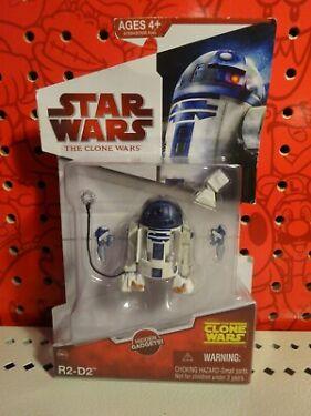 Star Wars The Clone Wars  2009 R2D2 Droid Action Figure CW25 hidden Gadgets