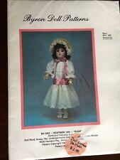 "Byron Doll Patterns # By-242-Kestner 169 - Elsa Reproduction Fits1 241/2"" Doll"