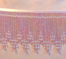 "SALE  Striking Magenta 5 1/2"" beaded fringe trim  #164"