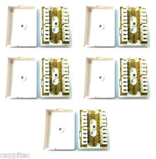 PACK OF 5 BT 78A 4 PAIR IDC JUNCTION BOXES FOR TELEPHONE CABLE BT78A