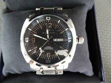 Nautis Stealth Black Dial Stainless Steel Bracelet Swiss Quartz Movement GL2087