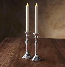LUMINARA Classic Ivory Wax LED Flameless Taper Candles Flicker W/ Remote&Timer 2