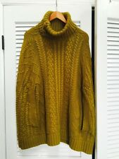 Anthropologie $128 CABLED COCOON PONCHO Cape Sweater Top by Fiets Voor2 SM / MED