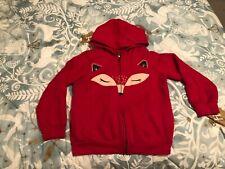 EEUC Fox Tea Collection Hoodie zip up sweatshirt pockets size 8