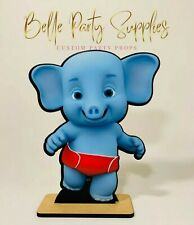 """10"""" Word Party Bailey Elephant Wood Stand Prop Centerpiece Party Birthday Decora"""
