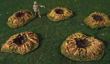 Small Caliber Shell Craters(Set of 5) Painted,Dry Brushed,Flocked & Sealed!!!