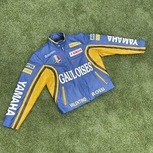 Valentino Rossi Yamaha Leather Motorbike Biker Jacket Size Large