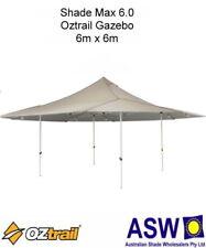 6m x 6m Oztrail Gazebo SHADE MAX 6.0 NATURAL Instant Fold Marquee G-OZSM6.0