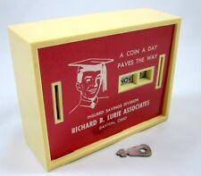All Coin Calendar Bank & Key Graduation Plastic Metal Vintage 1960s Dayton Ohio