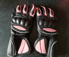 Womens Leather Motorcycle Motorbike Scooter Gloves