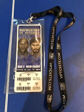 Mayweather Vs. Pacquiao Official MGM Grand ticket With Vip Tickets Landyard Vhtf