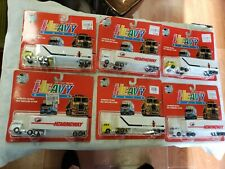 Vintage Die Cast~Heavy Duty~Tractor Trailers~ lot of 6~Circa 1980~90 Free Ship~