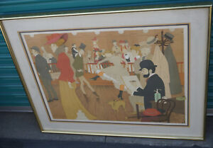 Philippe Henri Noyer Untitled Pencil Signed Art Print Lithograph Dancing Drawing
