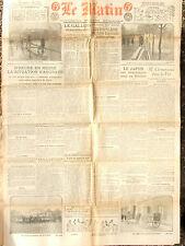LE MATIN (3/1/1920) Inondations de Paris - M. Clémenceau dans le Var
