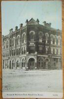 1912 PC: Farmers & Merchants Bank-Mound City, Kansas KS