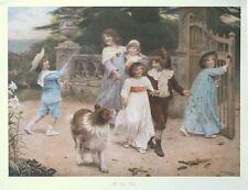 The Home Team - Arthur Elsley print - children portraits poster -66cm x 48cm