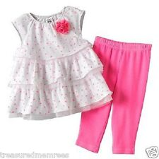 17feef715 Carter's 2 Piece Outfit Tiered Tunic & Leggings Set ~ Size Newborn