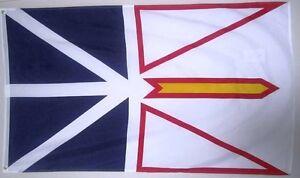 NEWFOUNDLAND 3ft x 5ft BANNER/FLAG HIGH QUALITY 100% POLYESTER METAL GROMMETS