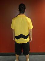Adult STD Comics TV Show Peanuts Charlie Brown Button Up Shirt & Shorts Costume