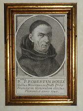 700'-RITRATTO FRATE RITRATTO DI ROBERTUS BOULE GALLUS NIVERMUS-FLORENTIAE
