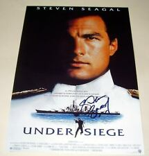 "UNDER SIEGE PP SIGNED POSTER 12""X8"" STEVEN SEAGAL"