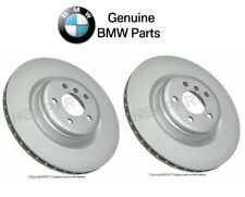 NEW BMW 550i GT 760Li F01 F07 Pair Set of Rear Vented Brake Disc Rotors Genuine