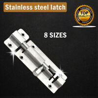 DOOR SLIDE BOLT CATCH CHOOSE: Stainless steel Small - Large Bathroom Latch Lock