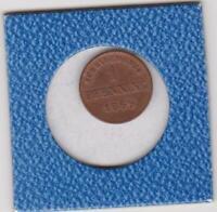 1 Pfennig Bayern 1869 Ludwig II Bavaria prima Erhaltung