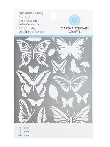 BUTTERFLIES GLOSSARY Dry Embossing Stencil Martha Stewart NEW