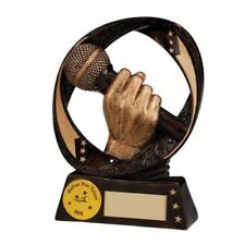 MUSIC KARAOKE SINGER WINNER TROPHY AWARD 9cm RF16080A TSA