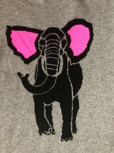 Aqua Bloomingdales Gray Cashmere Elephant pink Sweatersz M Was 245